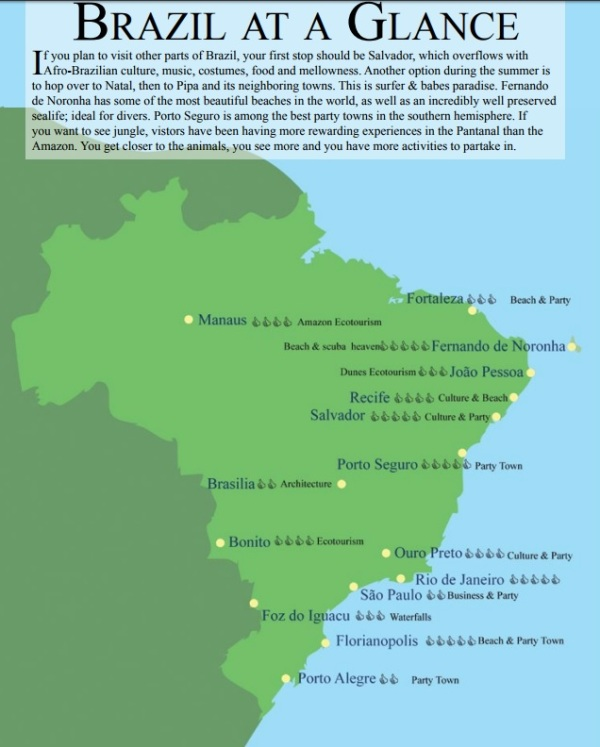 Map of Brazil by Rio for Partiers