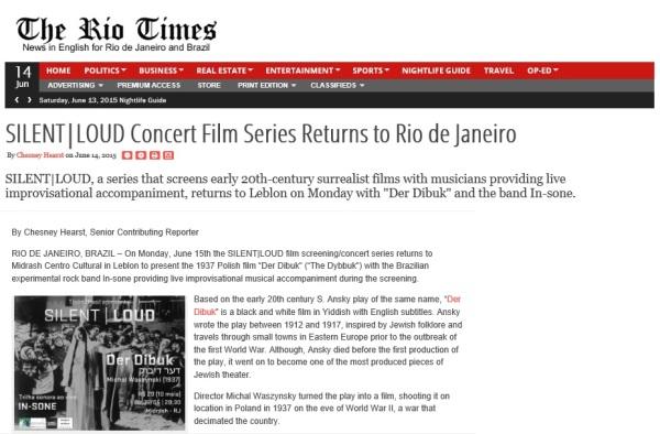 Rio Times, June 14, 2015